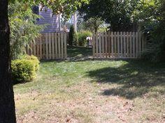 4' high dog ear fence