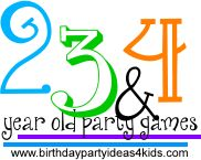 Birthday party games for toddlers, 2, 3 and 4 year olds