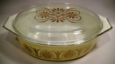 Vintage Pyrex Golden Classic Covered Casserole by Lifeinmommatone, $38.00