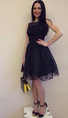 dress Philipp Plein, purse Prada, shoes Giuseppe Zanotti