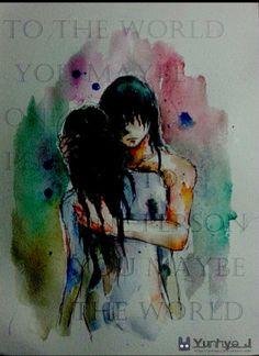 이것도 삽화로 썼던건데 이거 영어 뭔말이었더라 to the world you maybe one person but to one person you maybe the world 이거사실 인소명대사라고함ㅋㅋㅋㅋ재미지다 고2감성비만 끼히ㅣ히히힣히ㅣㅎ