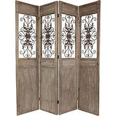 Overstock This Large Four Panel Floor Screen From Oriental Home Is Hand Crafted