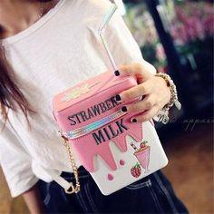 AdoreWe - NewChic Girls PU Leather Milk Box Mini Crossbody Bag Embroidery Phone Bag - AdoreWe.com