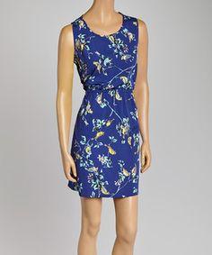 Another great find on #zulily! Navy Blue Hummingbird A-Line Dress by Pura Vida #zulilyfinds
