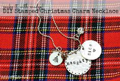 Naughty or nice, we've got you covered with our DIY Stamped Christmas Charm Necklace video and step by step tutorial!