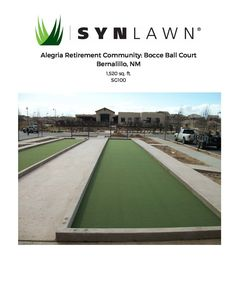 #TBT: If you were living in the retirement community DelWebb at Alegria in Bernalillo, N.M., would you be playing bocce ball? These residents can thanks to great work done by SYNLawn of New Mexico! #fun #games #sports #boomers #seniors #retirement #community #SYNLawn #artificialgrass http://www.synlawn.com/commercial/commercial-resume/