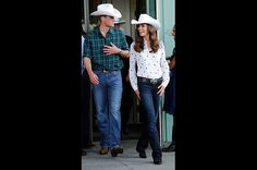 Cowgirl Kate  In Calgary, Canada, the Duchess attended a government reception at the BMO Centre on July 7, 2011. She looked all-American in her cowboy hat, boots and bold belt buckle.