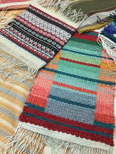 Barbara Pickel - some of the weft faced weaving projects completed at Vavstuga Weaving School in Shelburne Falls, MA.