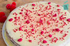 Witte chocolade frambozen taart - Uit de pan van San