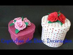 DIY - Dia das Mães - Caixa coração - Caixa redonda - Forrada com EVA