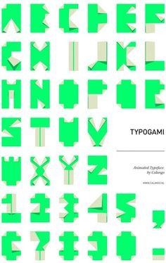 Typogami. Typography + Origami