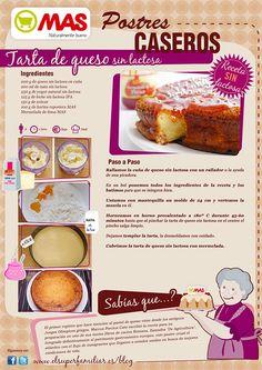 Buenísima esta tarta sin lactosa, apta para todo tipo de golosos :) #infoReceta #Receta