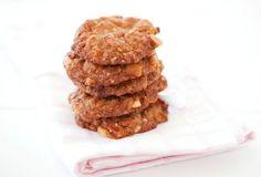 Foodlovers website recipes, Helen Jackson, Christmas baking and summer food. Macadamia and mango Anzacs. Photos by Carolyn Robertson