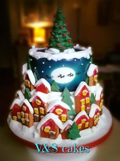 A simple Xmas cake - cake by V&S cakes