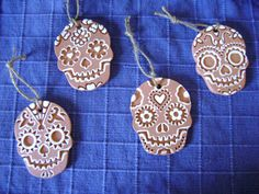 Ceramic Terra Cotta Clay Calavera Day of the by RedPlumPottery, $6.50