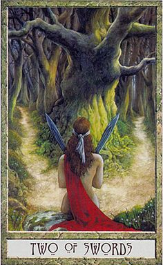 Two of swords From the Druid Craft tarot