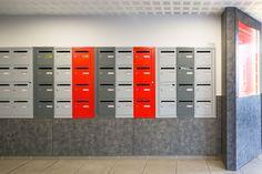 hall d entree professionnel Lockers, Locker Storage, Design, Furniture, Home Decor, Entrance Hall, Nantes, Color, Decoration Home