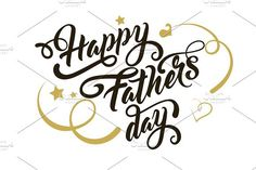 Happy Father Day. Script Fonts