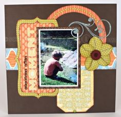 Mid Week Mojo layout using American Crafts Campy Trails collection. #scrapbooking #crafts