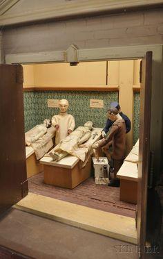 """ST. DENNISTOUN MORTUARY"" COIN-OPERATED AUTOMATON, ATTRIBUTED TO JOHN DENNISON, C. 1900."