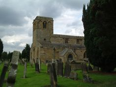 The cemetery at St Mary's Church, Leake, North Yorkshire.