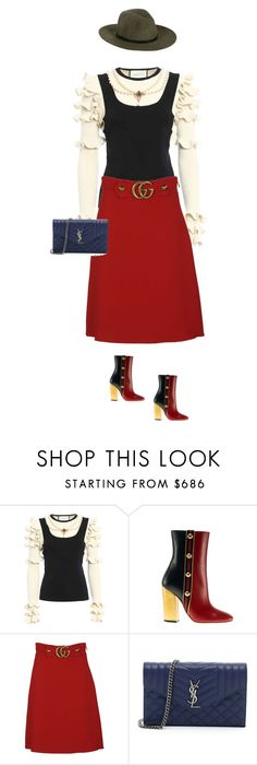 """""""The trendsetter."""" by cheetakat12 on Polyvore featuring Gucci, Yves Saint Laurent, rag & bone, fallstyle and falltrend"""