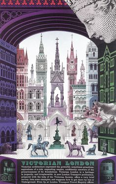 """Victorian London"" by David Gentleman"