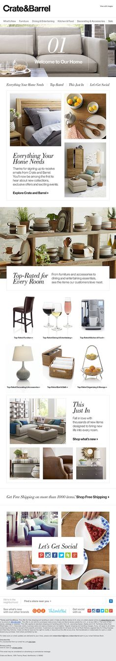 EBLAST: Welcome-To-Our-Home-from-CrateBarrel