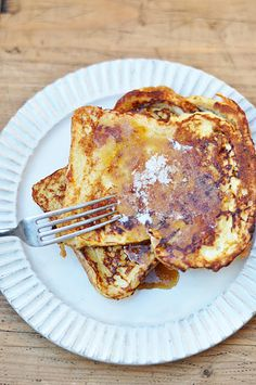 Fancy French toast recipe - French toast with maple syrup glaze