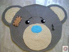 Детская ручной работы. Ярмарка Мастеров - ручная работа. Купить Детский коврик ручной работы Мишка Тедди. Handmade. Серый