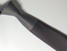 Necktie - Black and Gray Men's Tie - Black and Gray Cravat - PNWS145029 #handmadeatamazon #nazodesign