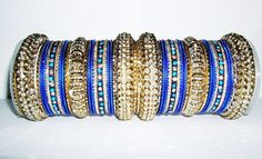 NEW COLLECTION: Royal Blue and Gold Indian Fashion Bangles