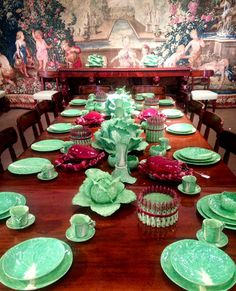 The Glam Pad: C.Z. Guest's Collection of Dodie Thayer Lettuce Ware at Sotheby's