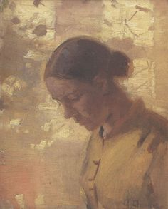 Anna Ancher - 1886 - 'Tine, A Young Girl from Skagen'