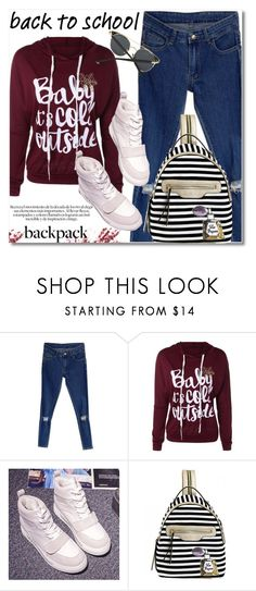 """""""In My Backpack"""" by svijetlana ❤ liked on Polyvore featuring backpack, inmybackpack and twinkledeals"""