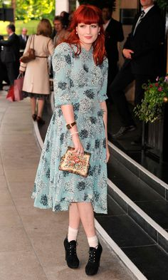 Florence Welch Looked Pretty As A Picture In A Floral Dress Complete With Ankle Boots, 2010