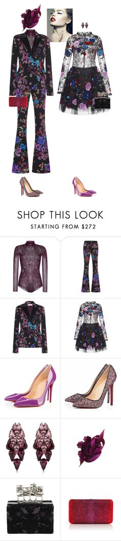 """""""Chepita & Evetta #8247"""" by canlui ❤ liked on Polyvore featuring Zuhair Murad, Christian Louboutin, Ellen Conde, Philip Treacy, Alexander McQueen and Judith Leiber"""