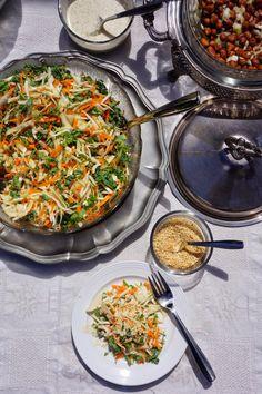 Ralu TeRa: Cabbage, kale and carrot salad with sweet tahini d...
