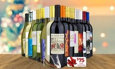 Groupon - 15 Bottles of Wine with Corkscrew and $ 75 e-Voucher from Barclays Wine (80% Off) . Groupon deal price: $69