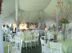 I really like how the ceiling looks in this tent for a reception.  Tents aren't always pretty, but this looks great!