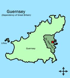 Parishes in Guernsey (St Peter Port shaded) - Saint Peter Port - Wikipedia, the free encyclopedia Little Island, Small Island, Channel Islands Uk, Bailiwick Of Guernsey, Guernsey Island, English Channel, Great Britain, France, Revolution