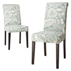 Avington dining chair blue paisley: set of 2 for $200 at target.com  {I'm seriously in love with these!!  They'd look awesome in our dining room, or in my office.}