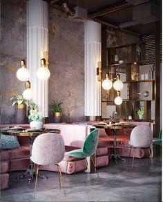WANDERLUSTING: contemporary restaurant design, so pink & pretty - Decoration For Home Interior Design Inspiration, Home Interior Design, Interior Architecture, Interior Decorating, Design Ideas, Design Trends, Interior Ideas, Room Inspiration, Decorating Ideas
