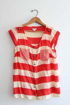 red & cream stripes from @Anthropologie .