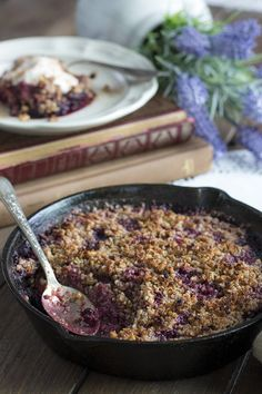 Skillet Berry Crumble - Low Carb, Paleo & Gluten-Free