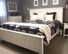 Ana White King Farmhouse Bed Diy Projects pertaining to dimensions 2724 X 2171 Farmhouse Bed Frame King - A lot of new homeowners, renovators, and fans Diy King Bed Frame, King Size Bed Frame, Diy King Size Headboard, White King Size Bed, Headboard Frame, King Size Bedroom Sets, Farmhouse Furniture, Furniture Plans, Bedroom Furniture