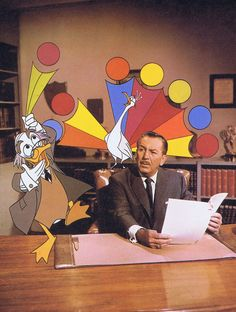 Ludwig Von Drake and Walt Disney