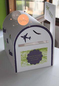 Urne voyage en forme de boîte aux lettres #urne mariage #urna voyage #urne personnalisée #urne originale #urne boîte aux lettres Graff Event