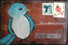 """Altered envelope artwork by Tracy """"Tandy"""" Anderson of ATCs for All. Click to view originalClick to view original"""