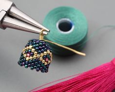 peyote tassel earrings - step by step picture tute